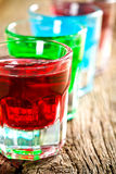 Various colorful liquors Royalty Free Stock Images