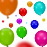 Various Colorful Party Balloons Royalty Free Stock Image