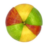 Various colorful sorts of apples Stock Photo