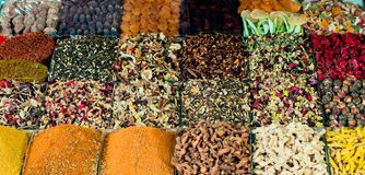 Various colorful spices as Colorful spice background. Variety of spices and herbs as Colorful spice background stock images