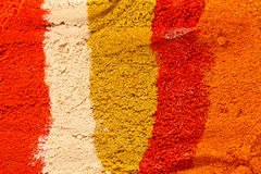 Various colorful spices close up Stock Photos