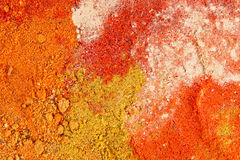 Various colorful spices close up Royalty Free Stock Photography