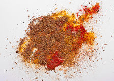 Various colorful spices on white background Stock Images