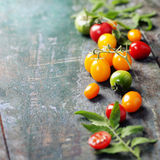 Various of colorful tomatoes Stock Photo
