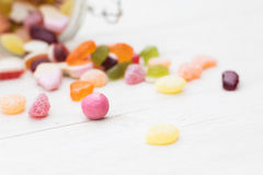 Various colorfull candies Royalty Free Stock Photo