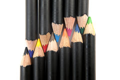 Various coloring pencils. Stock Photos