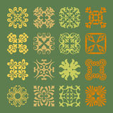 Various Colors of Art Deco Style Symbol Sets. Original Pattern a Stock Image