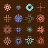 Various Colors of Art Nouveau Style Symbol Sets. Original Patter Royalty Free Stock Photos