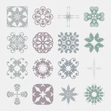 Various Colors of Damask Style Symbol Sets. Original Pattern and Stock Photo