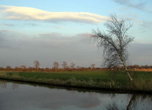 Various colors in a dutch landscape by day. Various colors in a dutch landscape on a clear day Stock Photos