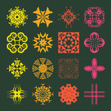 Various Colors of Geometric Style Symbol Sets. Original Pattern Stock Images
