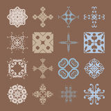 Various Colors of Grid Symbol Sets. Original Pattern and Symbol Royalty Free Stock Photos