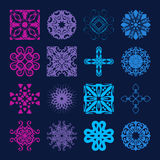 Various Colors of Grid Symbol Sets. Original Pattern and Symbol Stock Photography