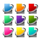 Various Colors Network File Icon Set. Various Colors Network File Vector Symbol Graphic Icon Set Design Stock Image