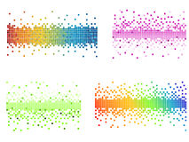 Various colors pixel. Vector illustrated various of colorfull pixels Royalty Free Stock Images