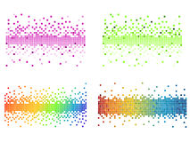 Various colors pixel. Vector illustrated various of colorfull pixels Royalty Free Stock Photo