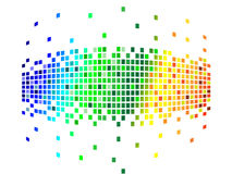Various colors pixels. Vector illustration of various colors pixels Stock Photography