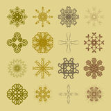 Various Colors of Wave Symbol Sets. Original Pattern and Symbol Royalty Free Stock Image