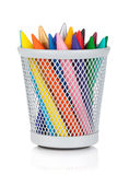Various colour markers in holder Stock Photos