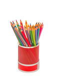 Various colour pencils. Isolated on white Royalty Free Stock Photos