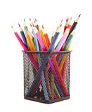 Various colour pencils. Isolated on the white Royalty Free Stock Image