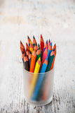 Various colour pencils Royalty Free Stock Photo
