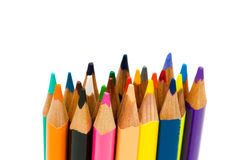 Various colour pencils isolated Royalty Free Stock Photo