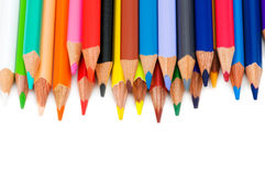 Various colour pencils isolated royalty free stock image