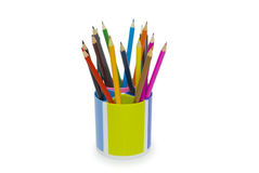 Various colour pencils isolated on the white Royalty Free Stock Images