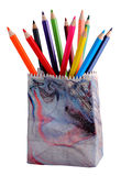 Various colour pencils. Isolated on the white Royalty Free Stock Photos