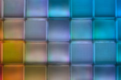 Various colour square row and column. Wall is translucent light what change a a lot of colour Royalty Free Stock Photography