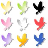 Various Colourful Birds Flying royalty free illustration