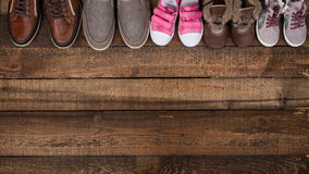 Various colourful footwear Royalty Free Stock Photo