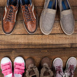 Various colourful footwear Royalty Free Stock Photos