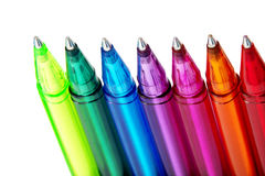 Various Colours of Ball Point Pens Royalty Free Stock Photos
