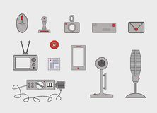 Various communication tools and methods Royalty Free Stock Photos