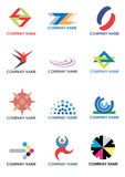 Various_company_logos. Several symbols for use on a company logo. Vector illustration Royalty Free Stock Photos