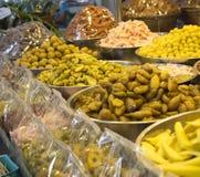 Various compote fruit, Thai dessert in street market. Stock Images