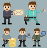 Various Concepts - Office and Business People Cartoon Character Vector Illustration Concept Royalty Free Stock Photos