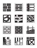 Various construction materials. Vector illustration Royalty Free Stock Image