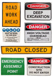 Various Construction signs Royalty Free Stock Photo