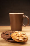 Various cookies and coffee Stock Image