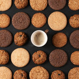 Various cookies and coffee Royalty Free Stock Photo