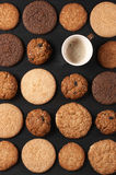 Various cookies and coffee Stock Photos