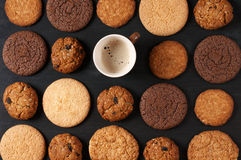 Various cookies and coffee Stock Photo