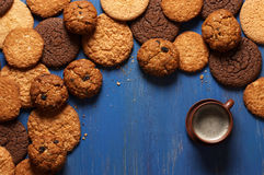 Various cookies and coffee Royalty Free Stock Photography