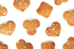 Various cookies pattern Royalty Free Stock Photography