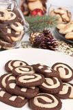 Various cookies with pine cones Royalty Free Stock Photo