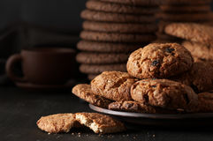 Various cookies in plate Stock Photos