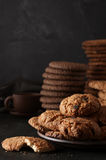 Various cookies in plate Royalty Free Stock Images